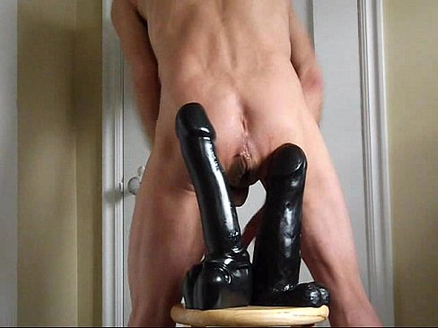 Double Ass Fucking Giant Black Cock Dildos's Thumb