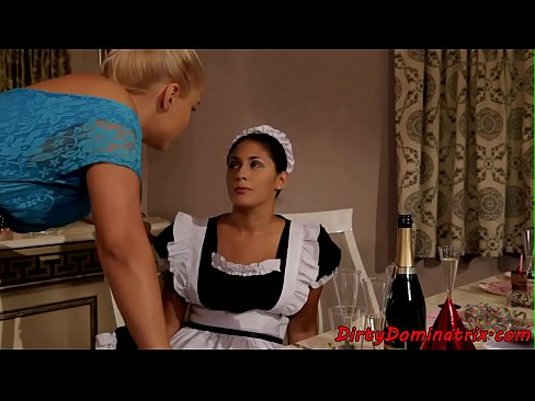 Euro maid dominated by her mistress