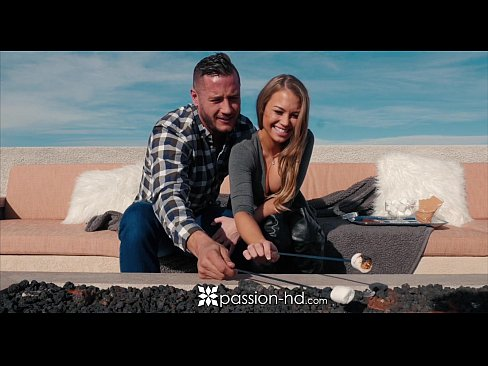 Passion-HD – NewYears fireworks by the fireplace with Kendall Kayden