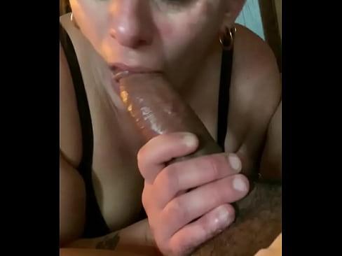 My aunt sucking my cock