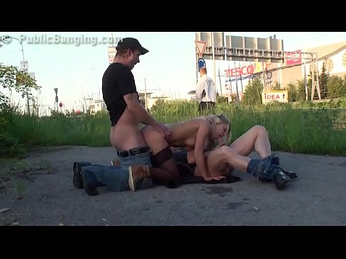 shocking public street group sex gangbang orgy part 4