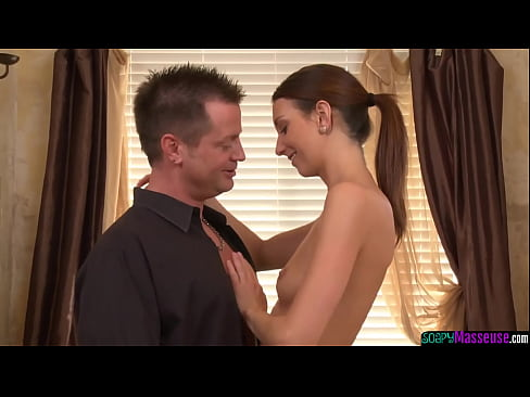 Tattooed masseuse sixtynined by customer