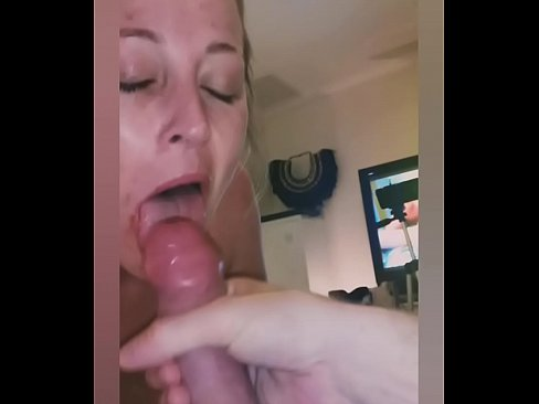 Huge cum dump in hungry milf mouth