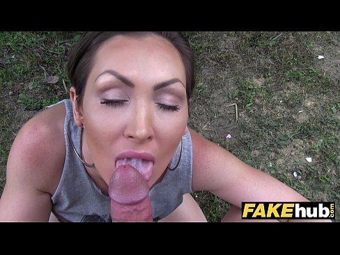 public agent australian big tits fucked outside