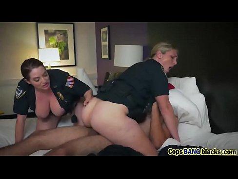 big tits female cops riding threesome interracial