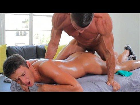 Straight Latino Hunk Gets Oiled Up
