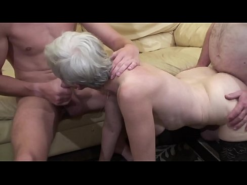 Old woman makes a threesome with her nephew and her father