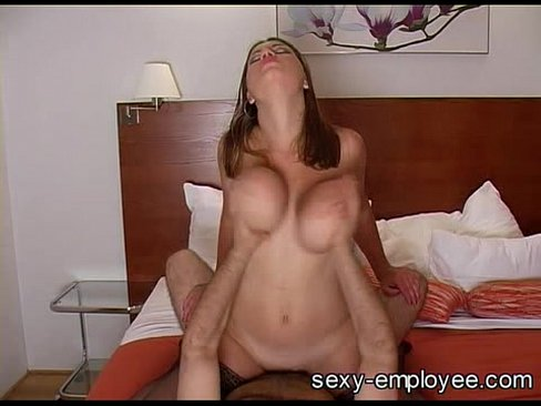 Big bouncing tits on sexy milf
