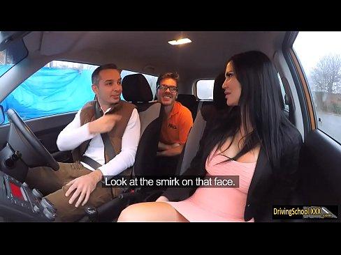 Driving Instructress Jasmine Jae 3some