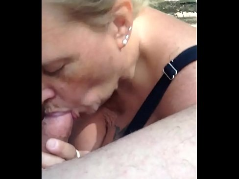 Cock sucking in the woods