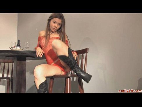 boots and lingerie on teen
