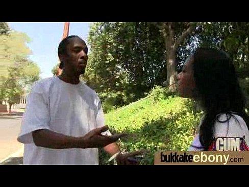 Ebony gets group cumshots 17XXX Sex Videos 3gp