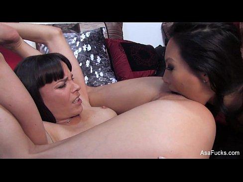 Asa Akira Rough Lesbian