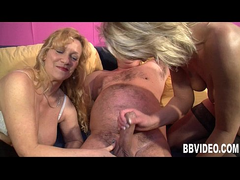 Blond guy gets used in threesome