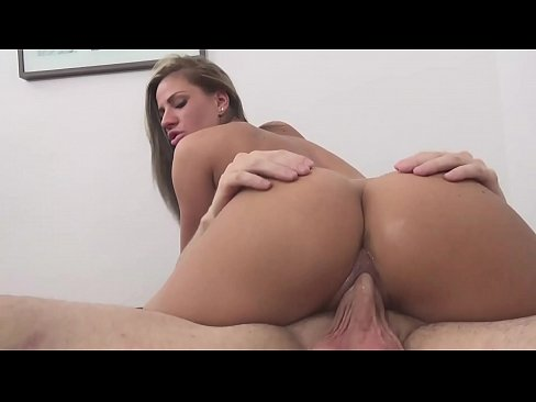 Bubble butt Athina Love rides on an American cock