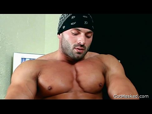 muscle jerking off Black
