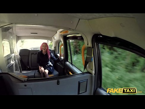 Fake Taxi Pink Haired Roxy Lace Fucks a Huge White Cock