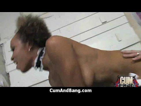 Ebony Teen Squirt Big Dildo