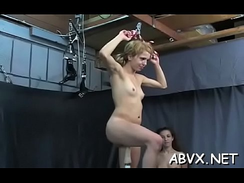 Tight young blonde fisting