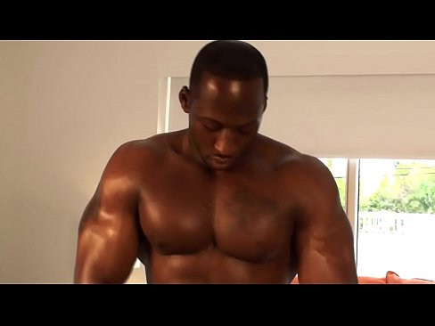 Hot muscular stud jerking