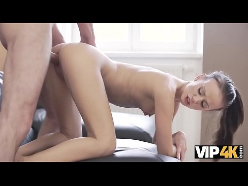 VIP4K. Daddy fills tender young mouth of Tina Walker with thick sperm