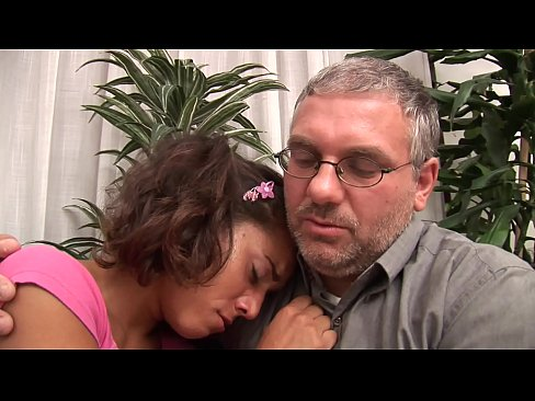 Dirty father comforts his young daughter on his own way…