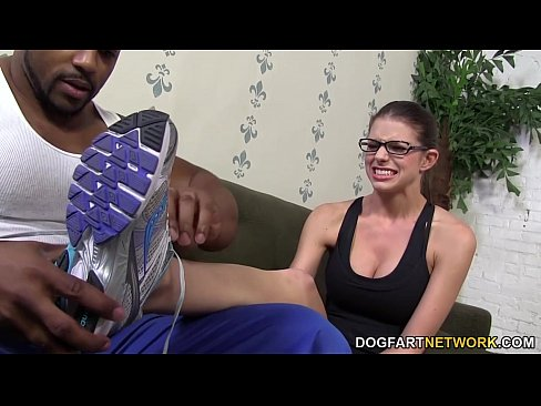 Foot fetish babe Brooklyn Chase pleases a big black cock