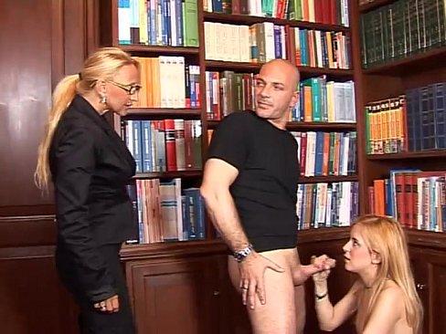 blonde in black stockings legs wide open!