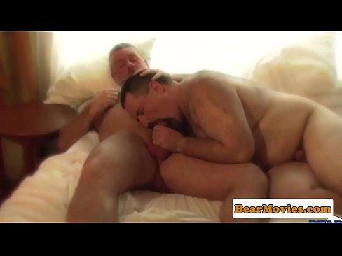 Fat bear home jizzing