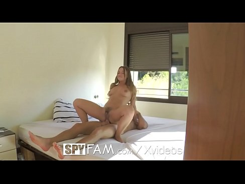 SpyFam Step sister Taylor Sands ambushes step brother with anal fuck