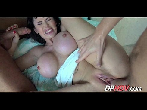 Big titted milf threesome