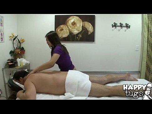 Older asian masseuse giving handjob video