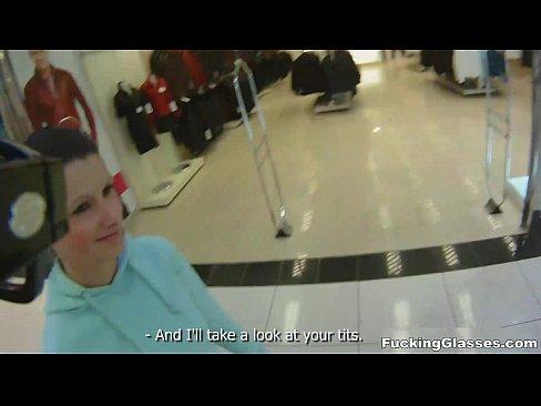 Fucking Glasses - Public restroom orgasm Mazy Teen teen-porn blowjob