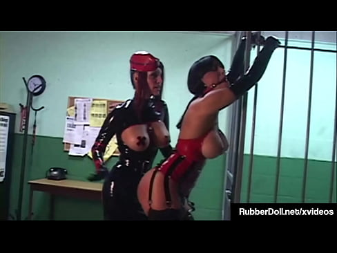 Latex Lesbian RubberDoll & Shiny Slut Slave Megan Jones Cages & More!