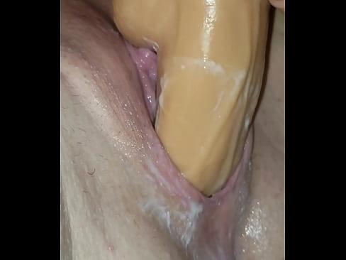 Girl Dildo Creamy Pussy