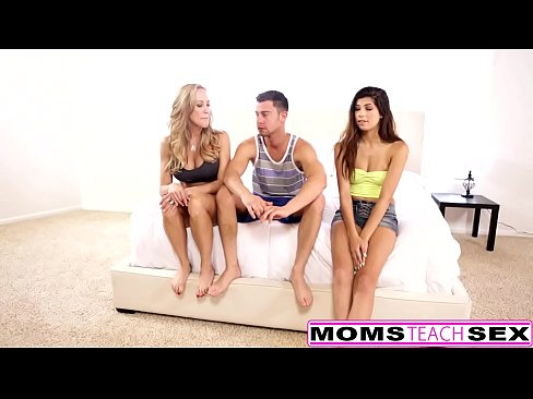 MomsTeachSex – Hot Yoga Mom Fucks Son And Teen GF