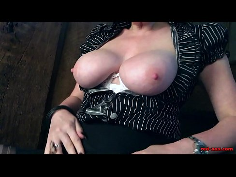 Naughty British mature Red fingers her wet pussy's Thumb