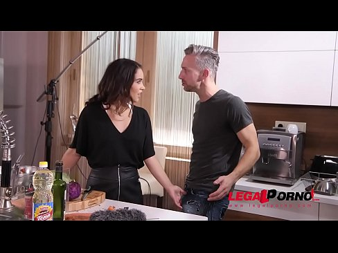 TV Chef Ginebra Bellucci Gets Her Sexy Asshole Fucked By Cameraman And Host GP223