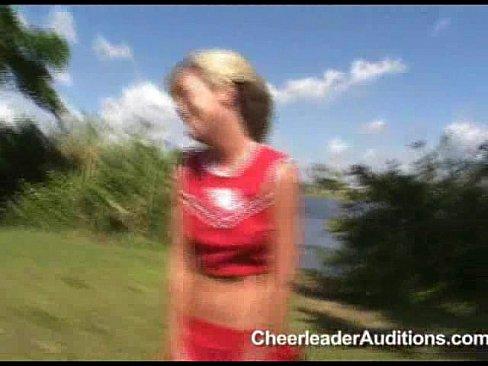 Blond cheerleader blowjob