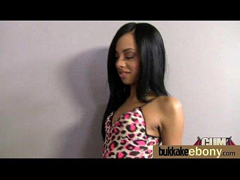 Ebony teen bukakke