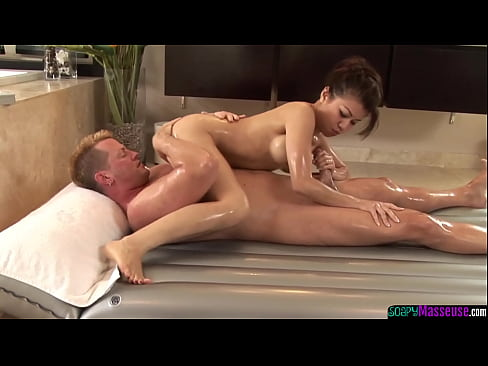 asian beauty cocksucking during massage