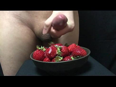Cum and strawberries video