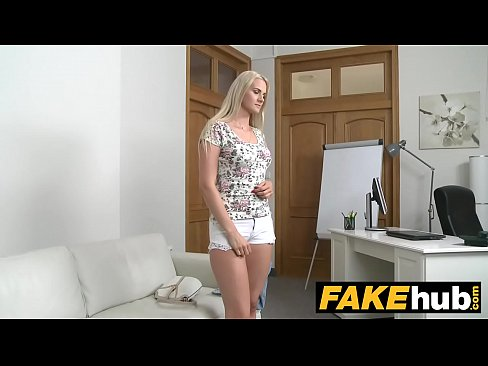 Fake Agent – Blonde Beauty in Casting Couch fuck