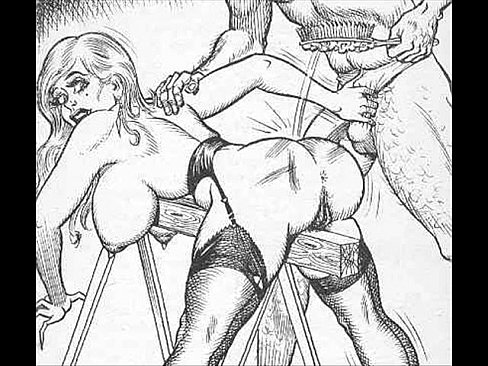 Femdom whipping drawings
