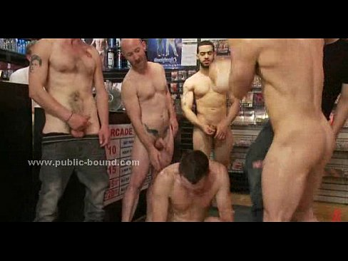 Strong gay hunks tricking boy to fuck in gang bang