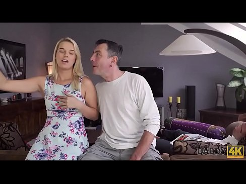 DADDY4K. Nikki tries cock of lovers father because wants experience