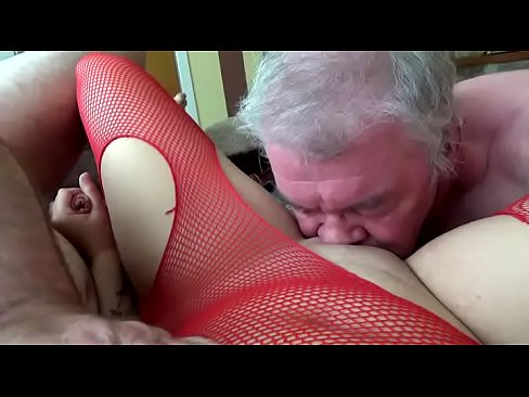 2 Old Guys Eating My Young Pussy Before Getting Covered In Cum