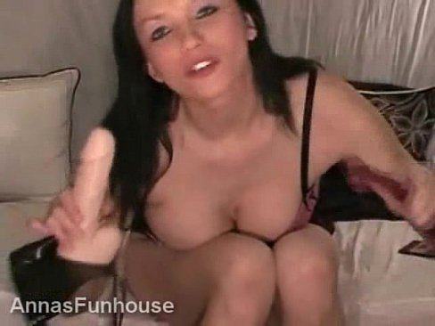 Female masterbation with a dildo