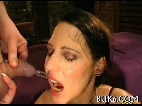 Group pissing on lusty girl's Thumb