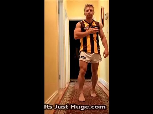 Australian Footy Player Footy Shorts Flex and Strip - justfor.fans/zakrogerz